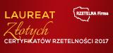Złoty Elektroniczny Certyfikat Rzetelna Firma 2017