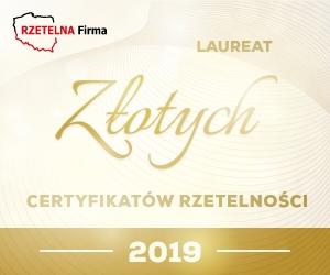 Złoty Certyfikat Rzetelności 2014 dla ORTO-SPED Orłowski Spółka Jawna.